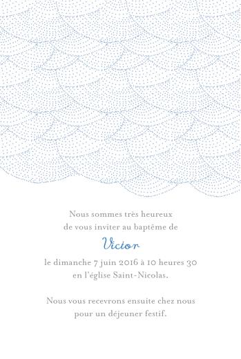 Faire-part de baptême Délicatesse (4 pages) bleu - Page 3