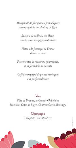 Jardin boh me menu de mariage for Jardin lee menu livraison