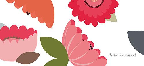 Etiquette perforée mariage Jardin bohème rouge - Page 2