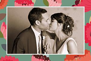 Carte de remerciement mariage Jardin bohème vert