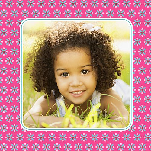 Carte d'anniversaire Petit pop rose