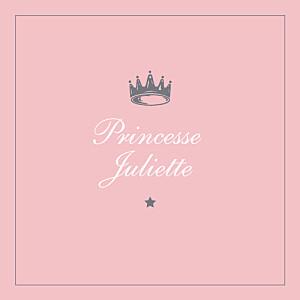 Carte d'anniversaire classique petite couronne rose