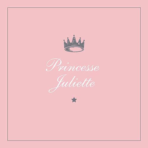 Carte d'anniversaire Petite couronne rose