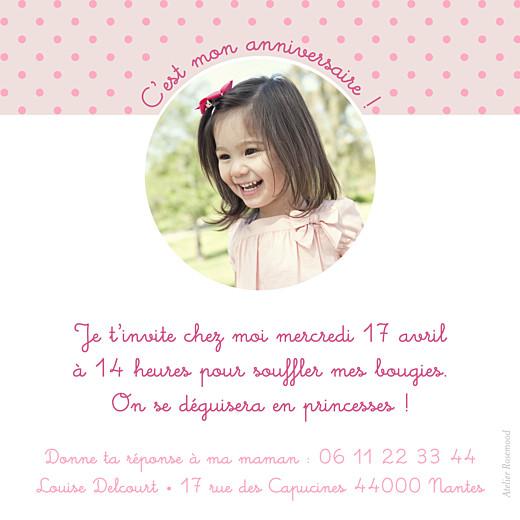 Carte d'anniversaire Diadème photo beige rose - Page 2