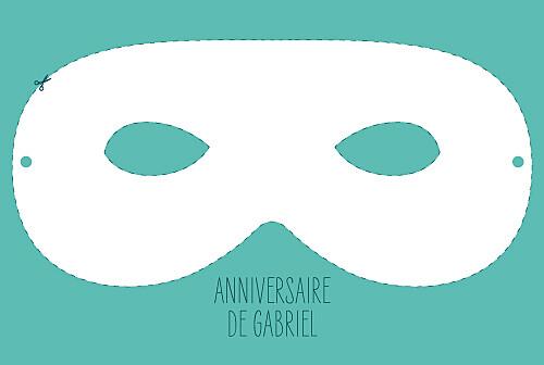 Carte d'anniversaire Masque turquoise
