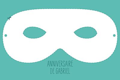 Carte d'anniversaire Masque turquoise finition
