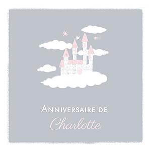 Carte d'anniversaire gris château dans le ciel photo gris