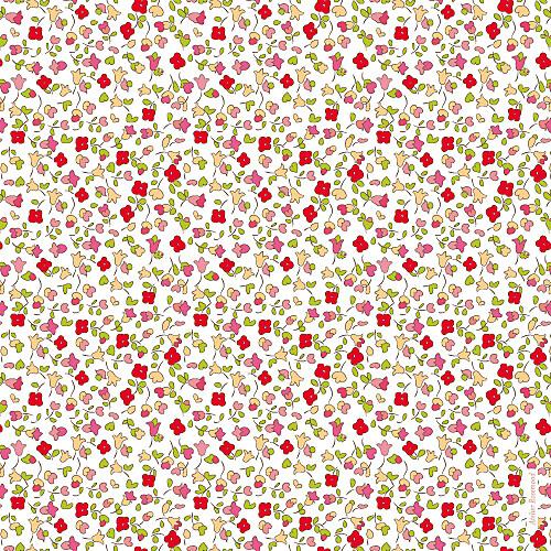 Faire-part de naissance Jardin fleuri rouge