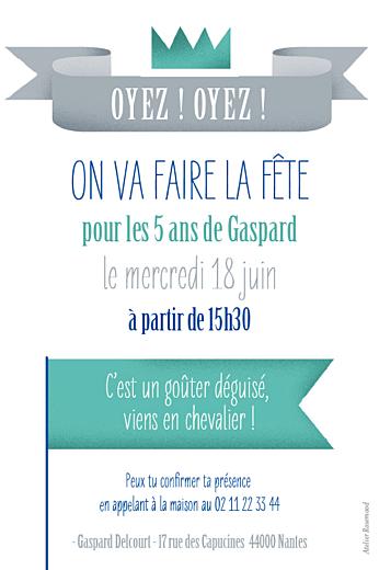 Carte d'anniversaire Château fort turquoise - Page 2