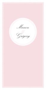 Menu de mariage Gourmand (4 pages) rose