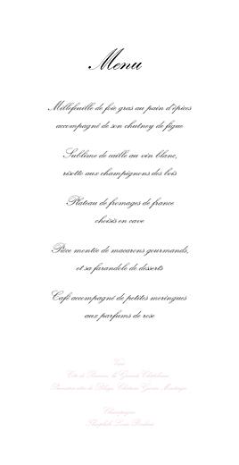 Menu de mariage Gourmand (4 pages) rose - Page 3