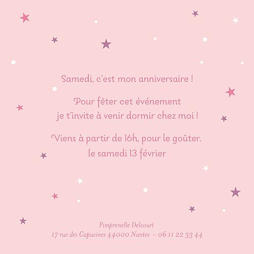 Carte d'anniversaire Soirée pyjama (4 pages) rose - Page 3