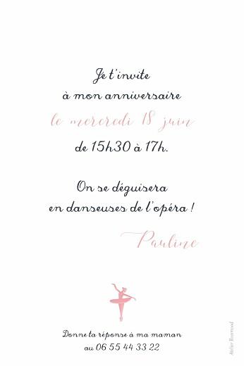 Carte d'anniversaire Chaussons de danse rose