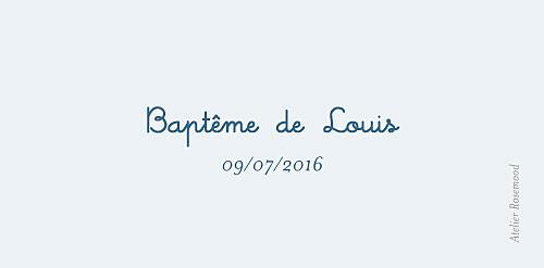 Marque-place Baptême Marin bleu