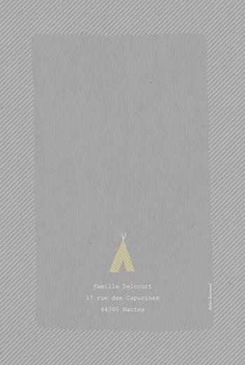 Faire-part de naissance Tipis photo (4 pages) gris