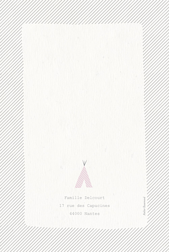 Faire-part de naissance Tipis photo (4 pages) beige rose - Page 4