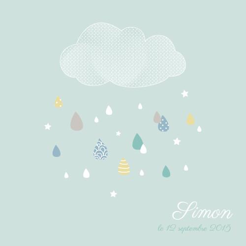Célèbre Faire-part de naissance Tombe la pluie (3 photos) - Atelier Rosemood RH06