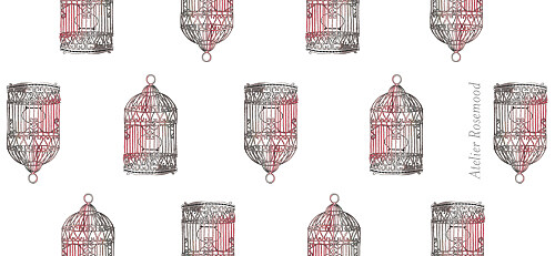 Etiquette perforée mariage Cage à oiseaux rouge - Page 2