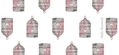 Etiquette de mariage Cage à oiseaux rouge - Page 2