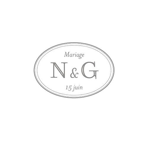Carton réponse mariage Classique blanc