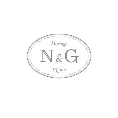 Carton réponse mariage Classique blanc finition