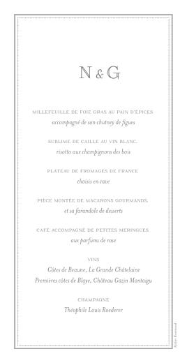 Menu de mariage Classique blanc - Page 2