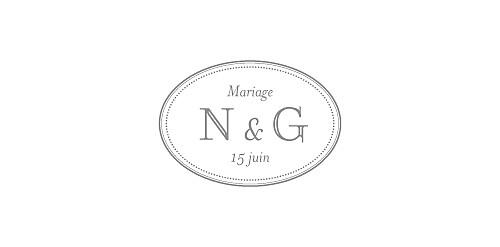 Marque-place mariage Classique blanc