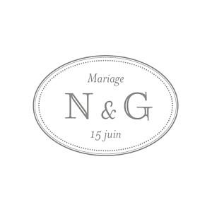 Etiquette de mariage Classique blanc