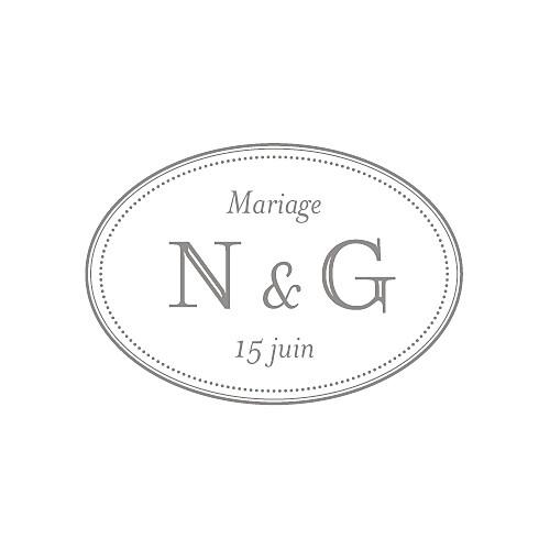 Etiquette perforée mariage Classique blanc
