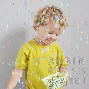 Carte d'anniversaire jaune mini the photo ! justifié citron