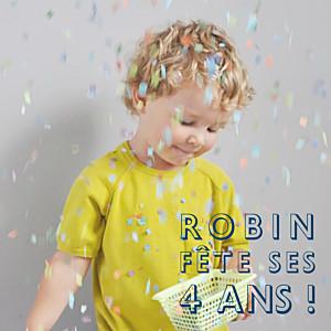 Carte d'anniversaire moderne mini the photo ! justifié bleu nuit