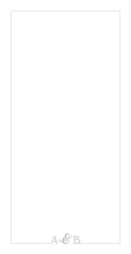 Menu de mariage Classique liseré (4 pages) gris