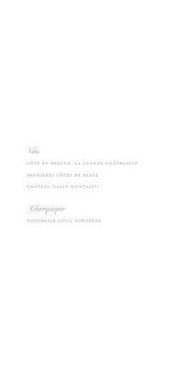 Menu de mariage Classique liseré (4 pages) gris - Page 2