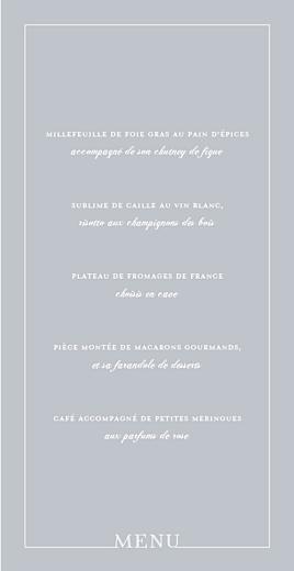 Menu de mariage Classique liseré (4 pages) gris - Page 3