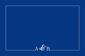 Carton réponse mariage Classique liseré bleu