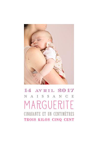 Faire-part de naissance La naissance (2 photos) blanc finition