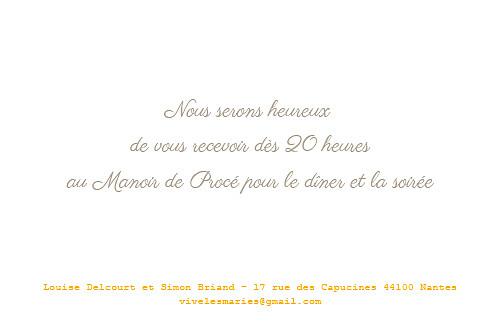 Carton d'invitation mariage À pieds joints taupe - Page 2
