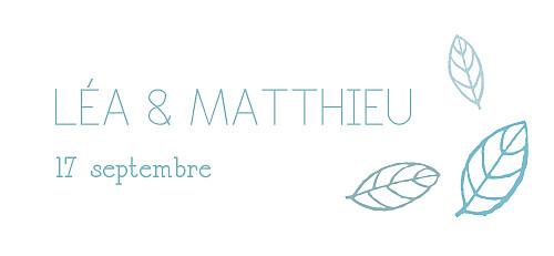 Etiquette de mariage Nature bleu