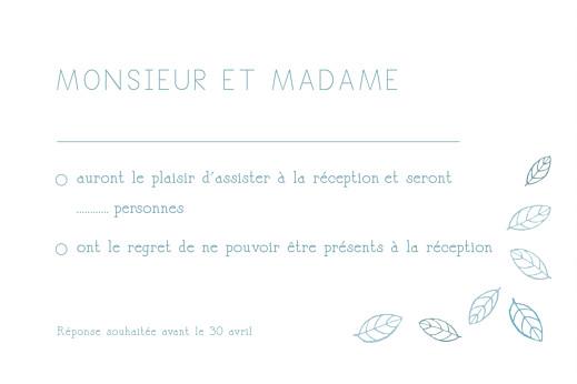 Carton réponse mariage Nature bleu - Page 1