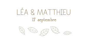 Marque-place mariage Nature taupe