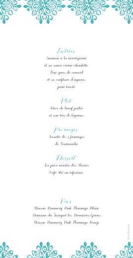 Menu de mariage Grâce turquoise - Page 2