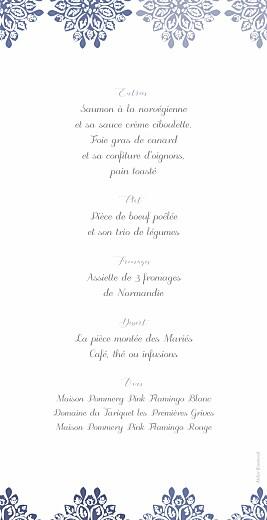 Menu de mariage Grâce blanc bleu - Page 2