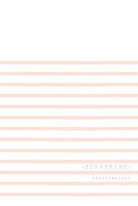 Faire-part de naissance orange marinière portrait (4 pages) rose orange