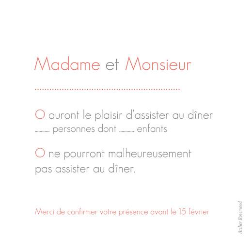 Carton réponse mariage Moderne photo blanc - Page 2