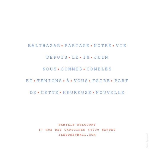 Faire-part de naissance Marinière bleu - Page 2