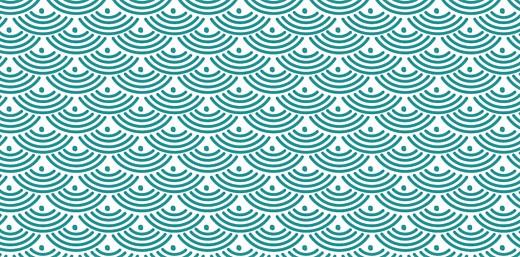 Marque-place Baptême Pattern écusson turquoise - Page 2