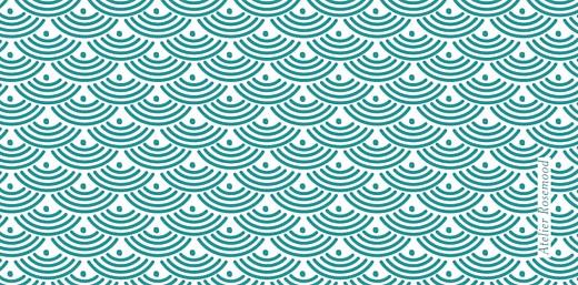 Marque-place Baptême Pattern écusson turquoise - Page 3
