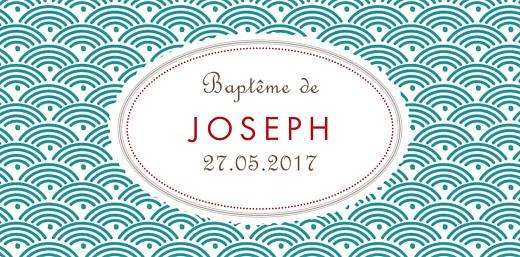 Marque-place Baptême Pattern écusson turquoise - Page 4