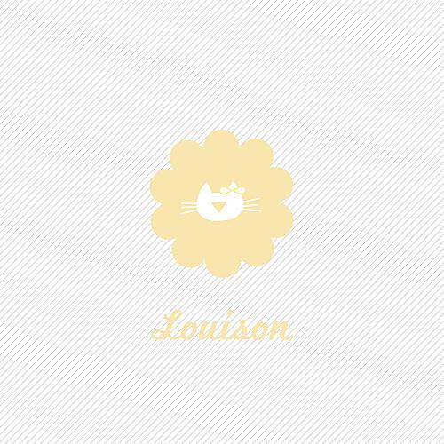 Faire-part de naissance Chaton 3 photos jaune