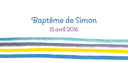 Marque-place Baptême Dessin lignes bleu - Page 4